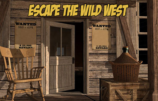 The Wild West title   image. A picture the entry way to the Sherrif's Office and jail.